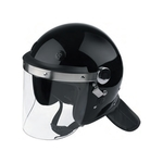 Photo Casque maintien de l'ordre Noir