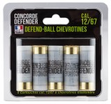 5 cartouches Defend-Ball cal. 12/67 chevrotines Elastomere