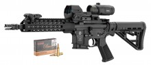 Pack SCHMEISSER AR15 S4F Keymod 10.5 '' 5.56 + VISEES + MUNITIONS