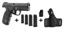 Pack pistolet semi-auto Steyr Mannlicher M9-A1 + 4 chargeurs + chargette + holster