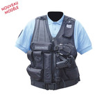 Photo Gilet force intervention avec holster pour PA ou taser