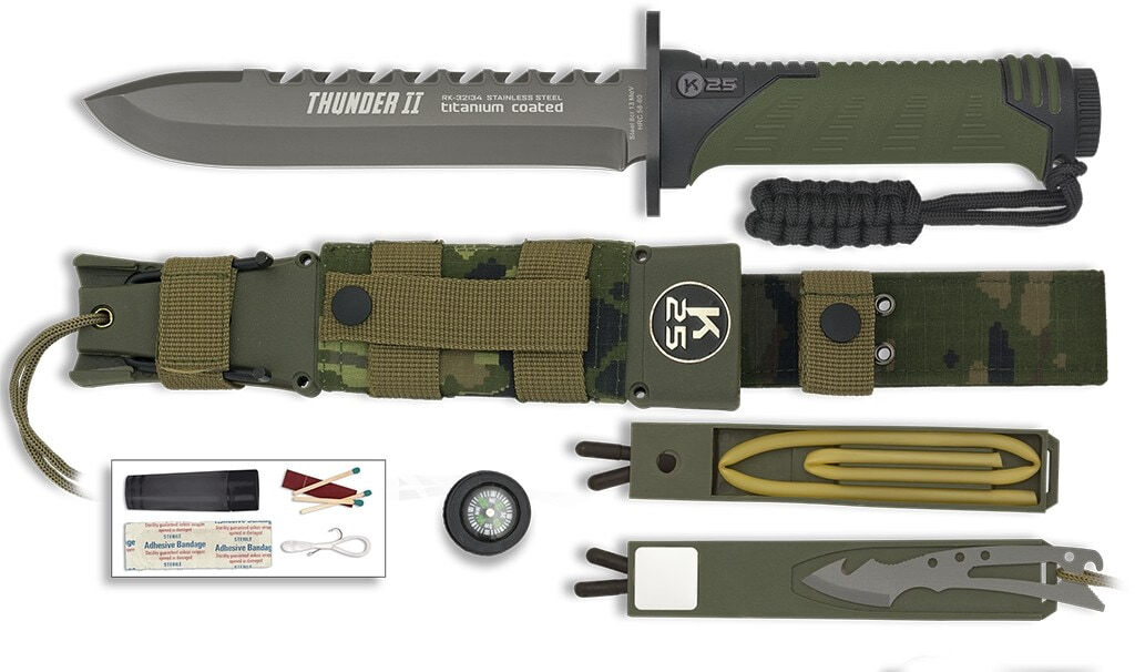 LC9156-01 Couteau K25 Thuner II camo vert - LC9156